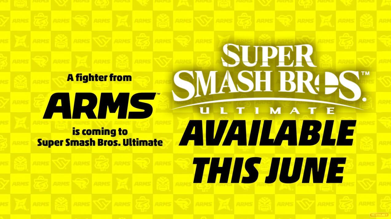 Super Smash Bros. Ultimate luchador ARMS