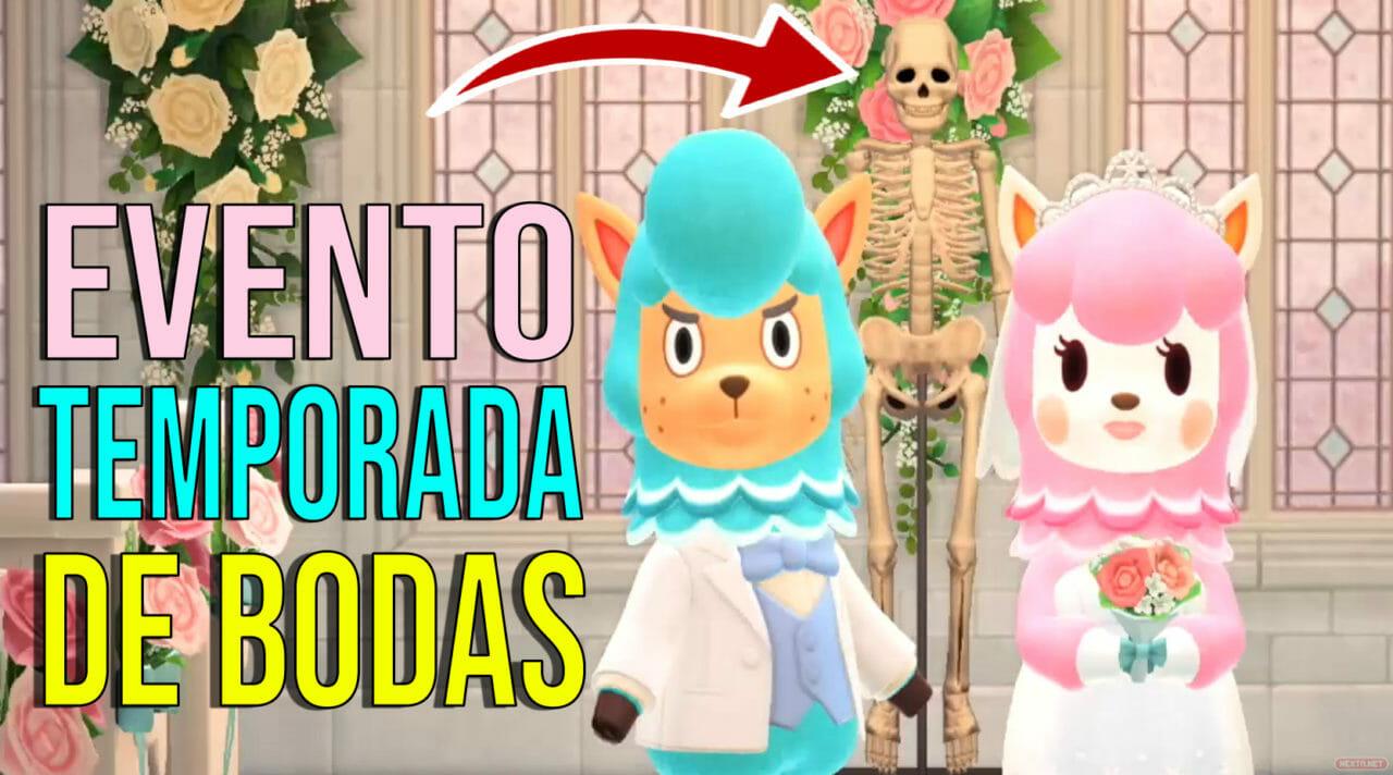 Evento Temporada de Bodas Animal Crossing New Horizons