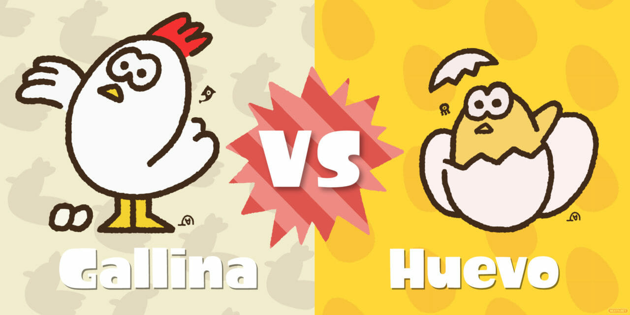 Splatoon 2 Splatfest festival huevo VS gallina