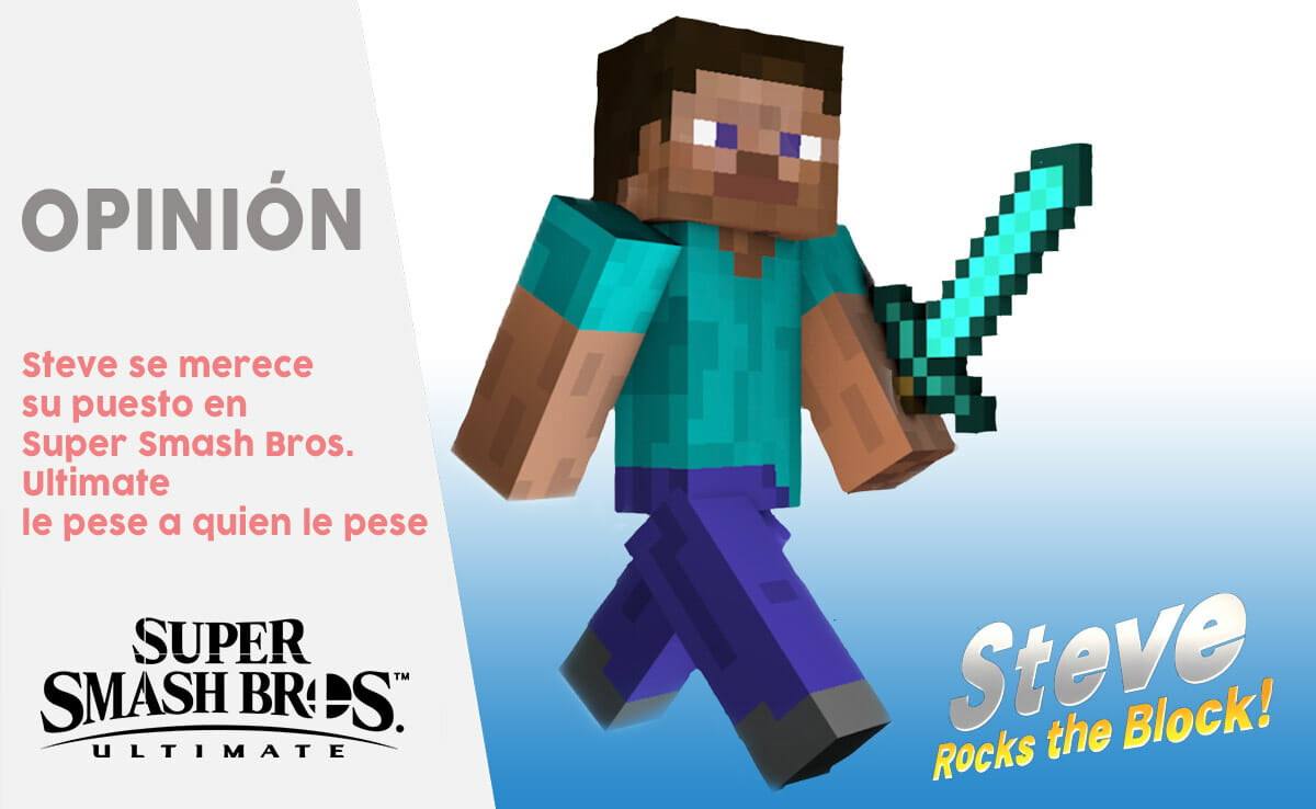 Super Smash Bros Ultimate Steve Minecraft