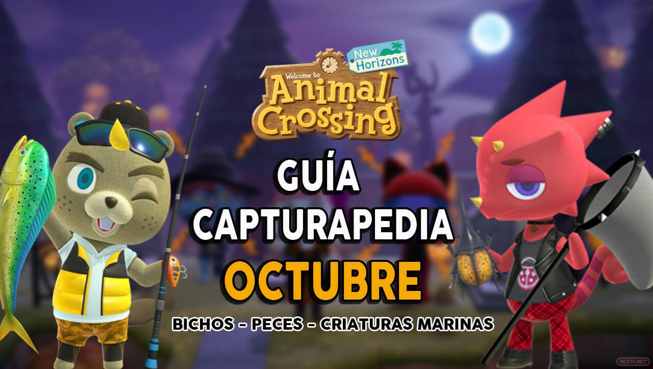 Guía Capturapedia de octubre de Animal Crossing: New Horizons