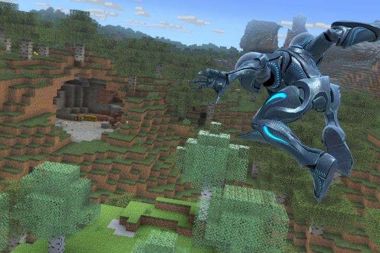 Super Smash Bros. Ultimate Samus Oscura Minecraft Twitter Masahiro Sakurai