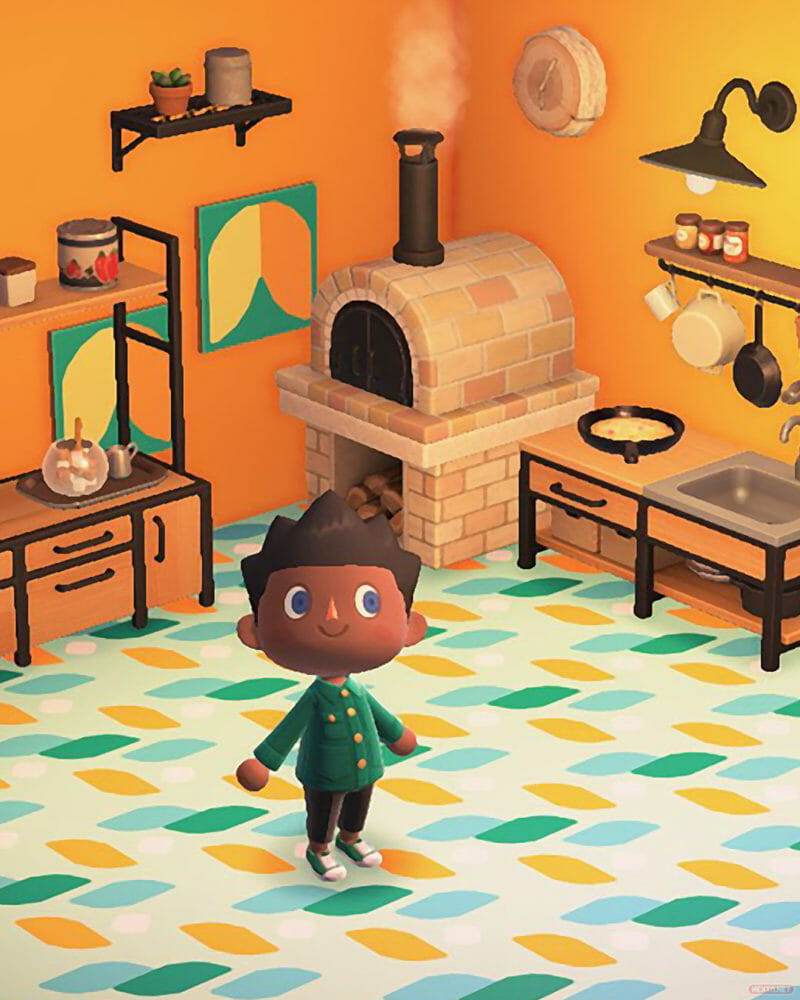 Animal Crossing New Horizons LEGO Dots Cocina