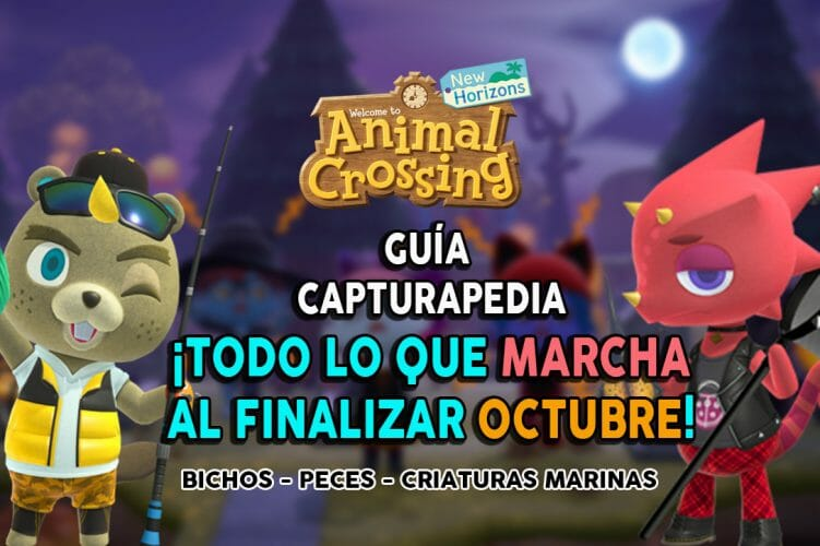 Guía Animal Crossing Guía Capturapedia New Horizons lo que marcha en Octubre