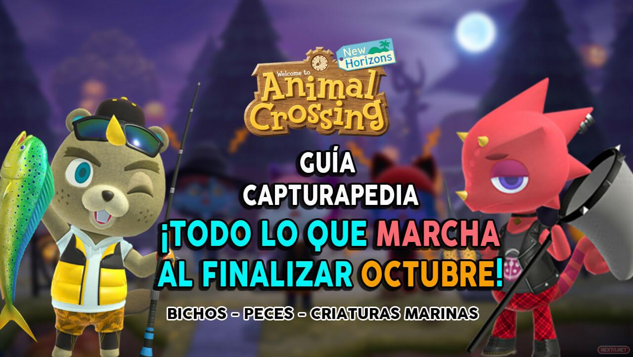 Guía Animal Crossing Guía Capturapedia New Horizons lo que marcha en Octubre