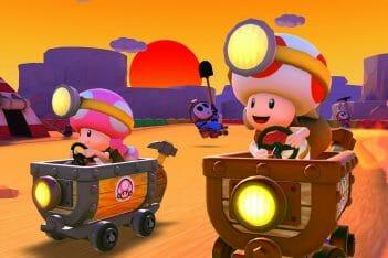 Mario Kart Tour temporada atardecer