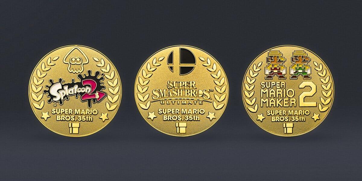 Medallas del 35 Aniversario de Super Mario Bros.