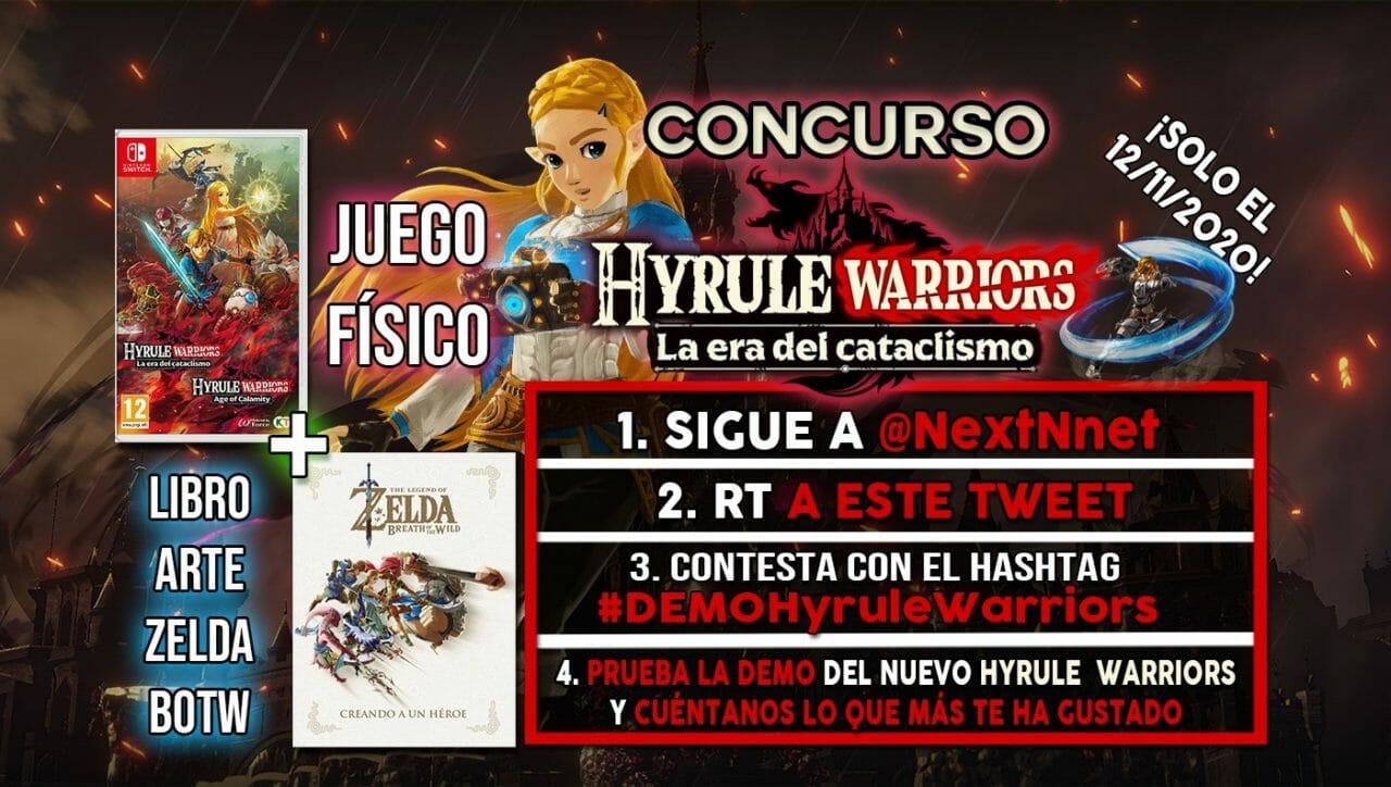 Concurso Demo Hyrule Warriors La era del cataclismo artbook Zelda BOTW