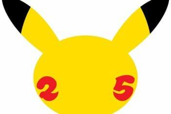 Logo 25 aniversario Pokémon Pikachu