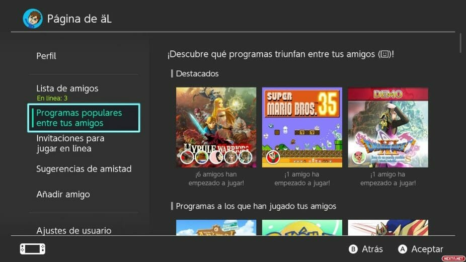 Nintendo Switch actualización 11.0.0