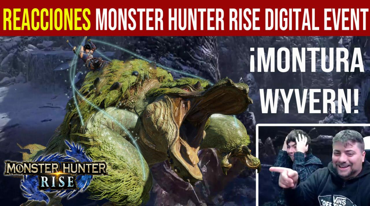 Reacciones Monster Hunter Digital Event montura wyvern