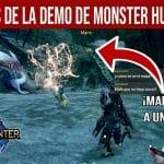 Demo Monster Hunter gameplay
