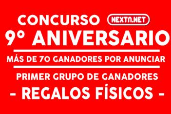Concurso 9 Aniversario NextN ganadores FÍSICOS