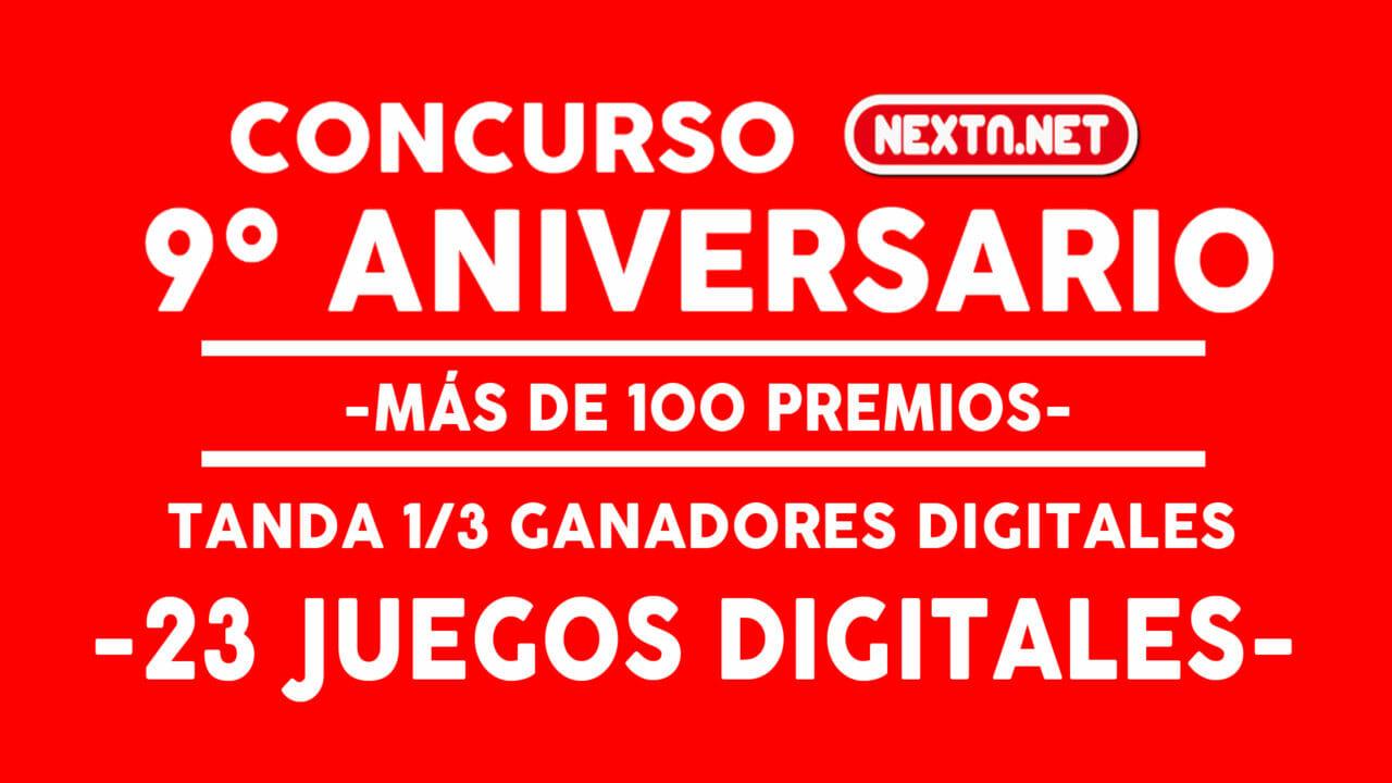 Concurso 9 Aniversario NextN ganadores DIGITALES 1-3