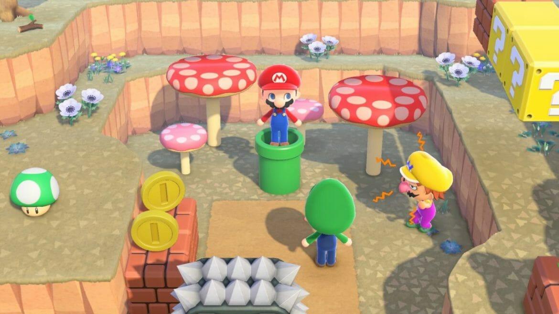 Super Mario x Animal Crossing New Horizons items