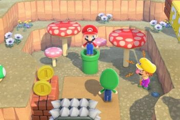 Super Mario x Animal Crossing New Horizons objetos