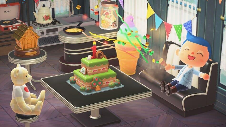 Pastel aniversario Animal Crossing: New Horizons