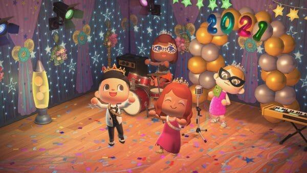 Baile Fin de curso Animal Crossing: New Horizons actualización marzo