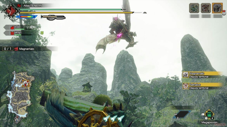 Análisis Monster Hunter Rise Rathalos Vs Magnamalo