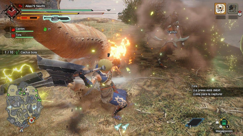 Análisis Monster Hunter Rise aviso presa débil