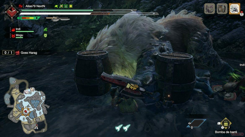 Guía Monster Hunter Rise Bombas Barril
