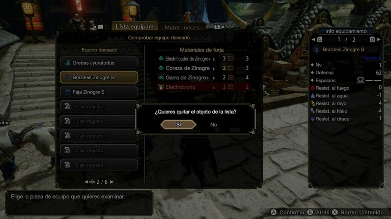 Guía Monster Hunter Rise Equipo Deseado