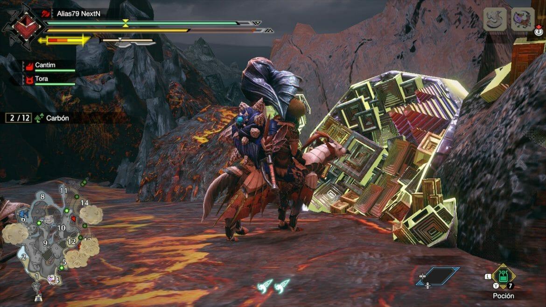 Guía Monster Hunter Rise Mineral Raro