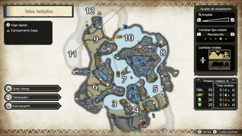 Monster Hunter Rise Mapa detallado