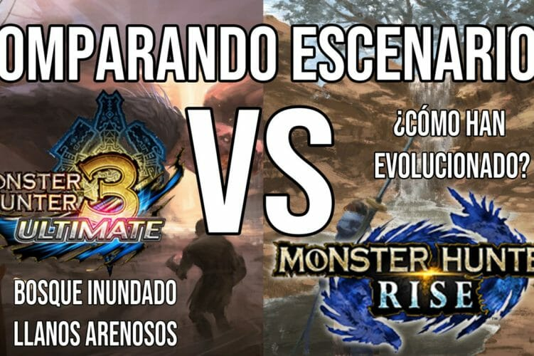 Comparativa Escenarios Monster Hunter Rise 3 Ultimate