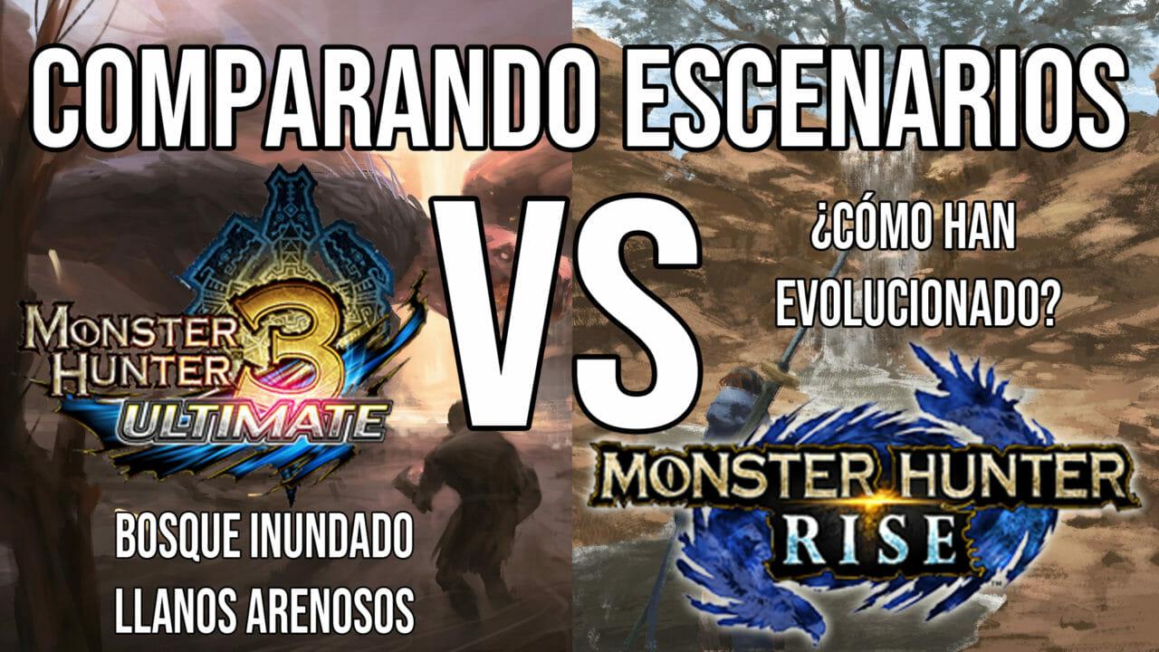 Comparativa Escenarios Monster Hunter Rise 3 Ultimate