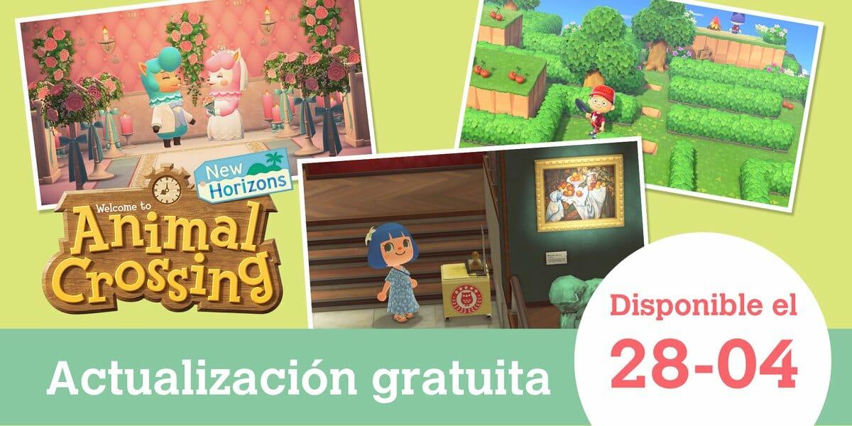 Animal Crossing New Horizons actualización 28 abril