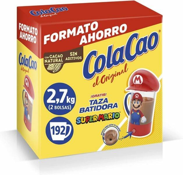 Cola Cao Taza Batidora Baticao Super Mario