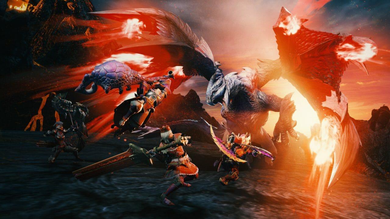 Monster Hunter Rise Valstrax carmesí