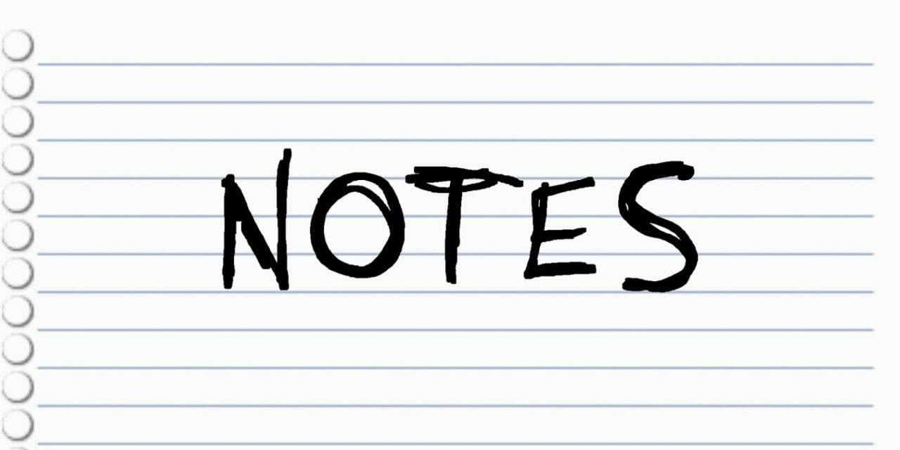 Notes Bloc de Notas Nintendo Switch