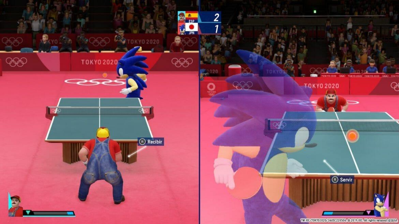 Mario contra Sonic en el juego que no es de Mario y Sonic
