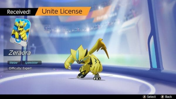 Pokémon UNITE Zeraora
