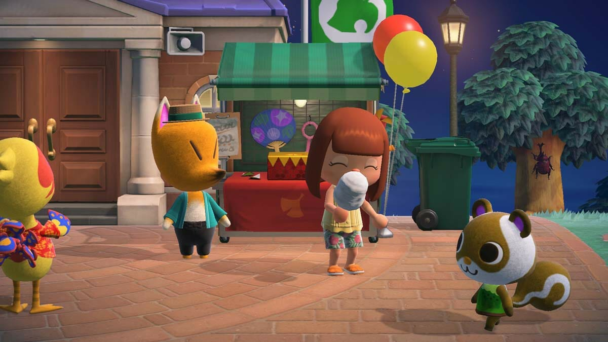 Animal Crossing New Horizons fuegos artificiales