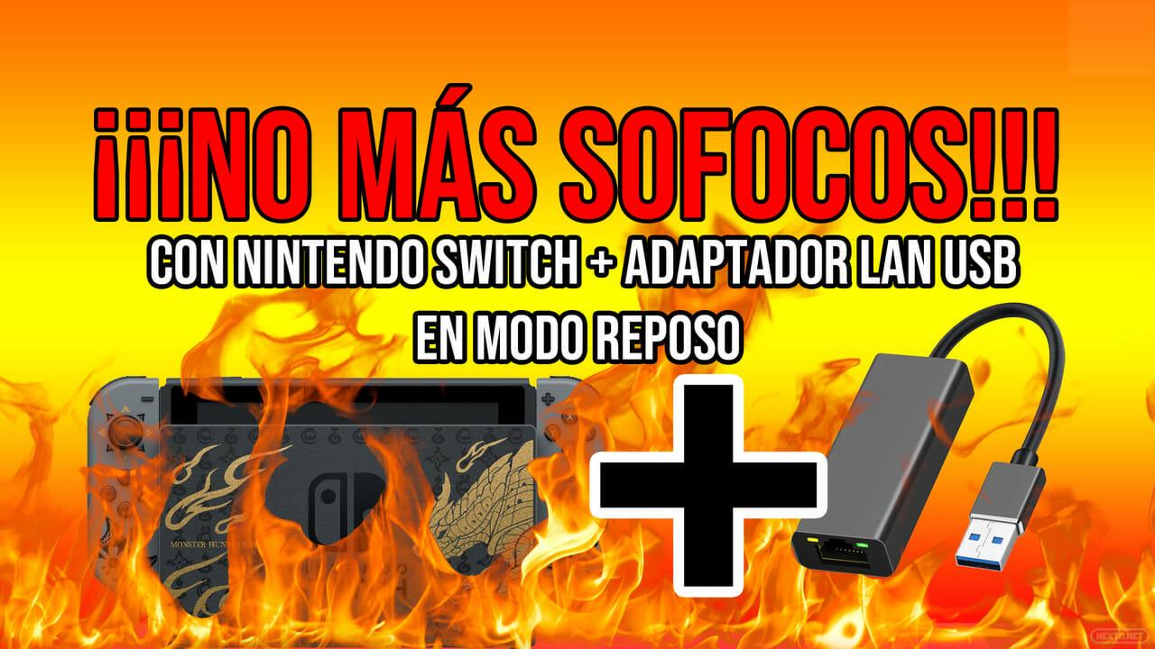 Modem USB modo LAN Nintendo Switch se calienta