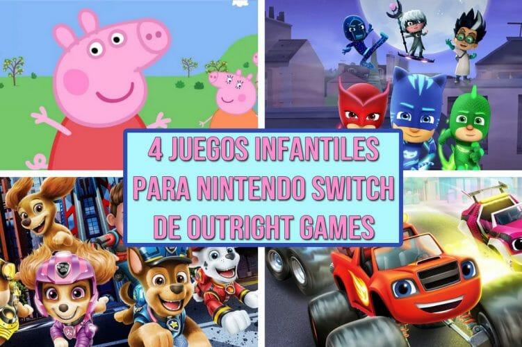 Juegos infantiles Switch PJ Mask, Pepa Pig Monster Machines La Patrulla Canina