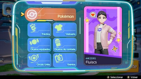 Pokémon UNITE nueva interfaz