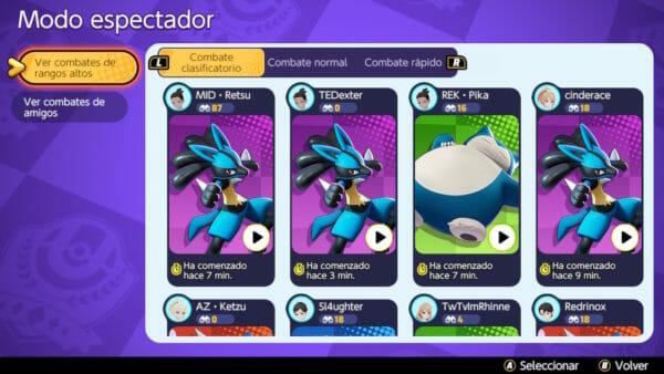 Modo Espectador Pokémon
