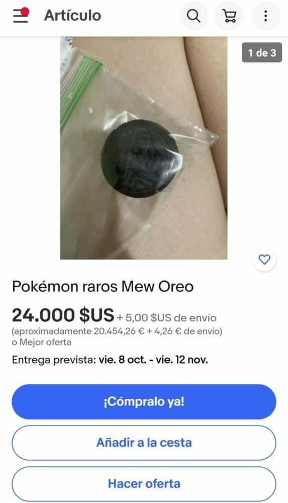 Pokémon Oreo Especulación Ebay