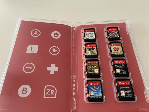 Estuche cartuchos Switch My Nintendo con juegos