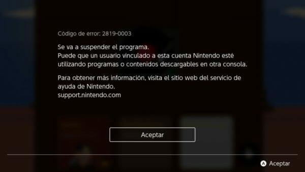 Abrir mismo usuario en 2 Nintendo Switch